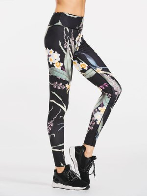 Stretchy Slimming Floral Sporty Leggings