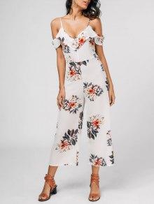 Floral Print Flounce Cami Jumpsuit - Floral S