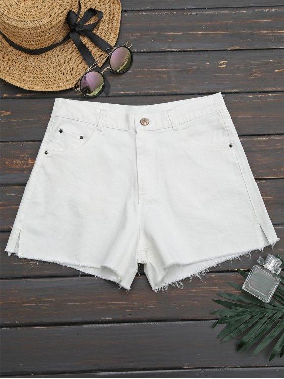 Pantalones cortos de corte recto - Blanco 34