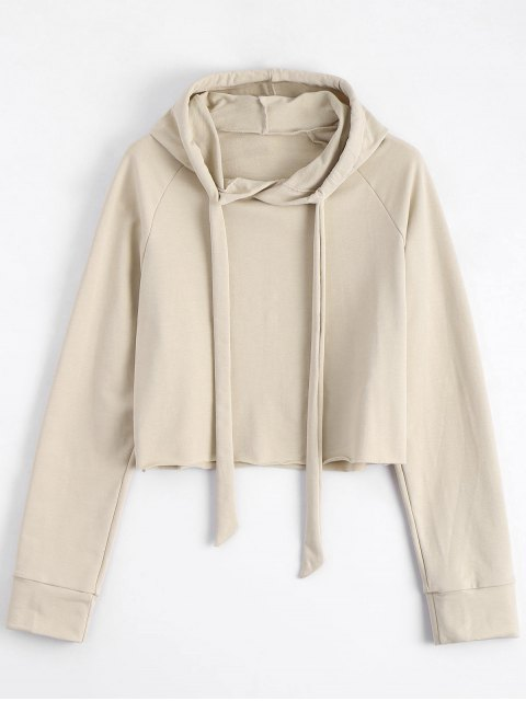 new Casual Loose String Hoodie - LIGHT KHAKI S Mobile