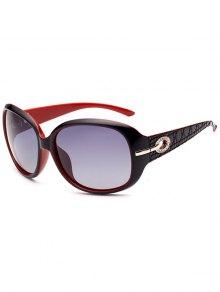 Rhinestone Decoration UV Protection Sunglasses - Black Red