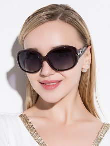 Gafas De Sol De Protección UV Decoración De Diamantes De Imitación - Vino Rojo