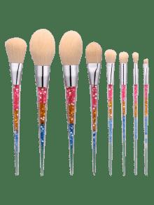 8Pcs Ensemble De Brosse à Maquillage En Forme De Nylon En Forme De Nylon