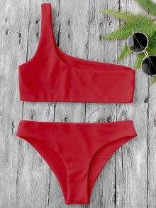 Un Conjunto De Bikini Hombro - Rojo L