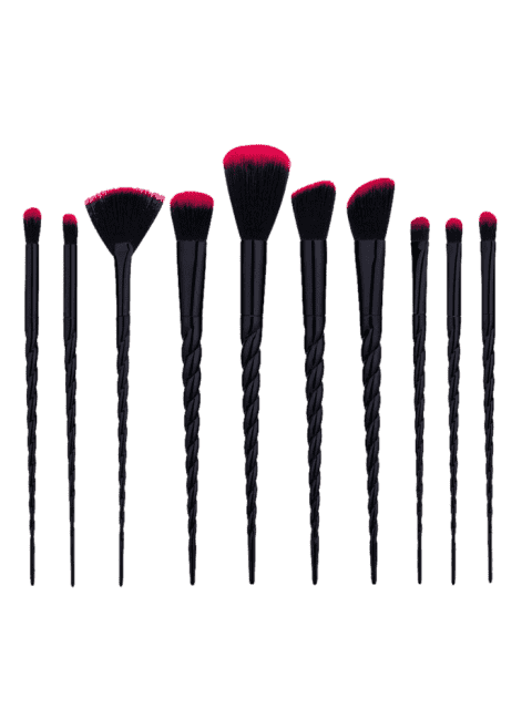 unique 10Pcs Unicorn Tapered Shape Makeup Brushes Set - BLACK  Mobile