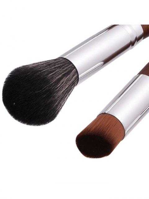 sale 10Pcs Aluminum Tube Nylon Makeup Brushes Set - COFFEE  Mobile