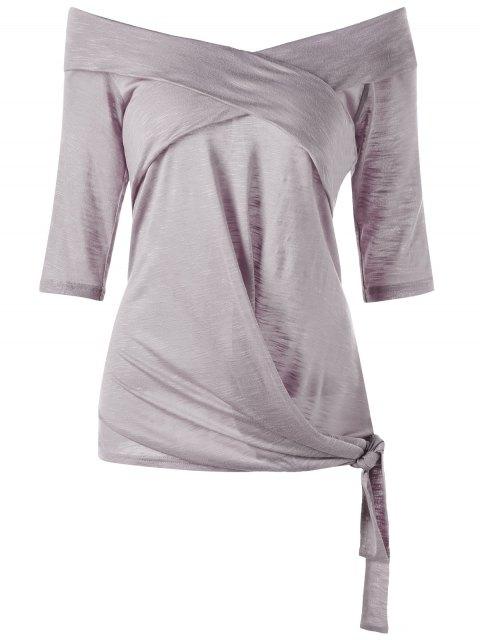 Taille plus sur le dessus latéral de l'épaule - Gris Violet 2XL Mobile