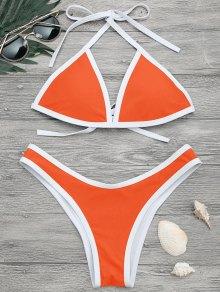 Juego De Bikini De Alto Contraste - Neu00f3n Naranja S