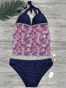 Floral Plus Size Tankini Bathing Suit - Floral Xl