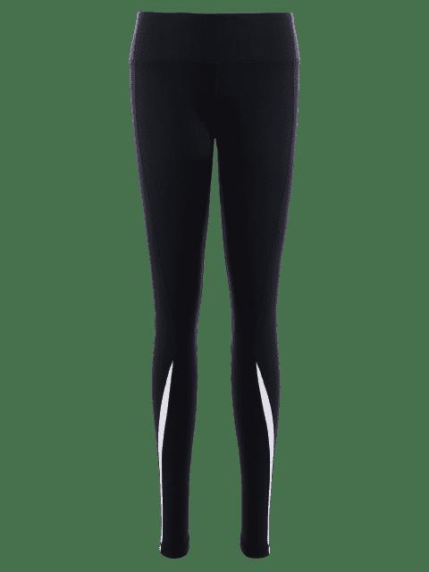 Leggings noirs sportifs et extensibles pour les femmes - Noir L Mobile