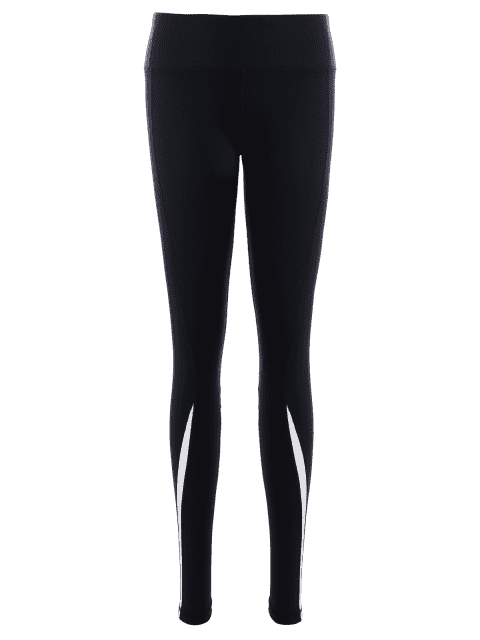 Leggings noirs sportifs et extensibles pour les femmes - Noir S Mobile