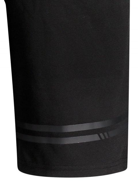 women's Seamless Zip Pocket Drawstring Shorts - BLACK 3XL Mobile