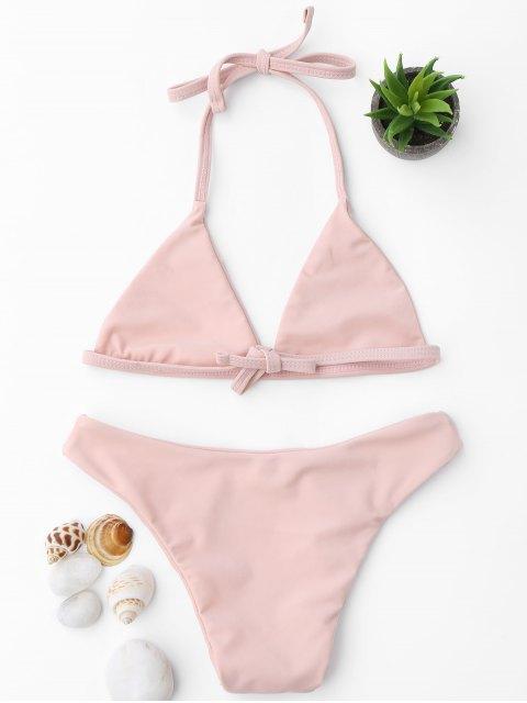 fashion Tie Back Halter Toddler Girls Bikini Set - PINK 3T Mobile