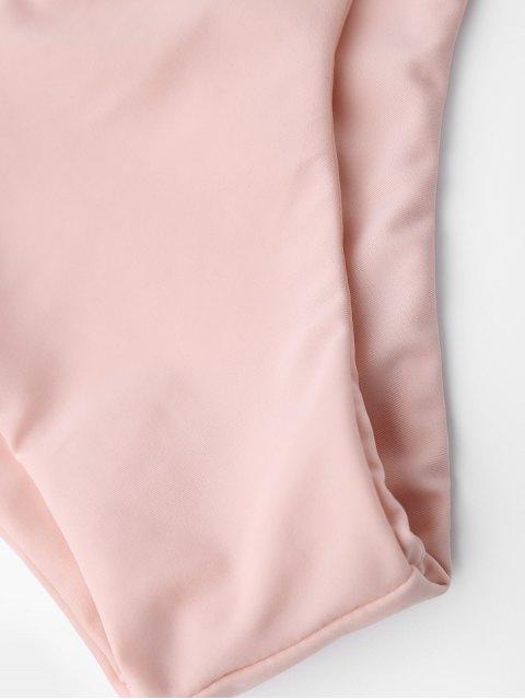 fancy Tie Back Halter Toddler Girls Bikini Set - PINK 5T Mobile