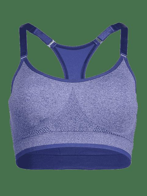 trendy Adjustable Gym Bra - BLUISH VIOLET M Mobile