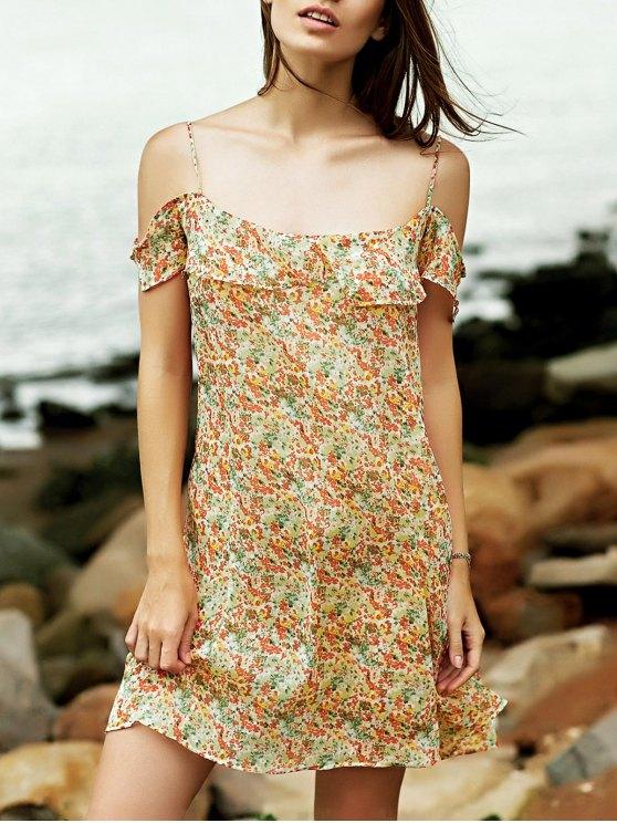 Tiny floral Cami vestido de las colmenas - Colormix S