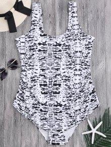 Tie Dyed Scoop Plus Size Swimwear - 2xl