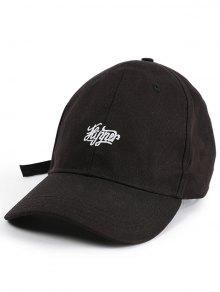 Letters Embellished Long Tail Baseball Hat - Black