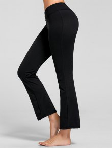 Stretch Bootcut Yoga Pants With Pocket - Black L