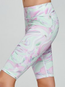 Fresh Pattern Running Tight Shorts - Pink S