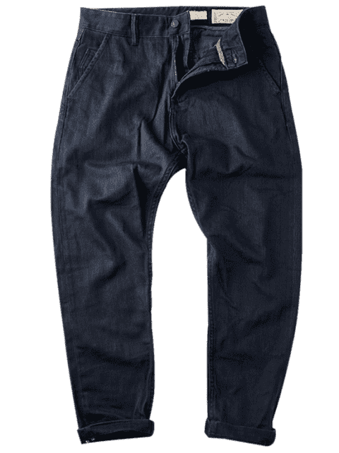 womens Mens Slim Fit Tapered Ninth Jeans - BLUE 36 Mobile
