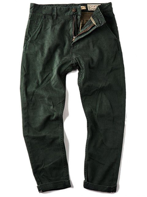 hot Mens Carrot Fit Ninth Jeans - GREEN 36 Mobile