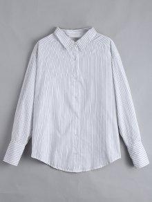 Chemise Rayée Boutonnée Boutonnée - Blanc S