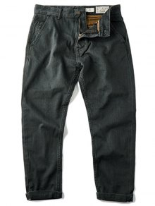 Mens Slim Fit Tapered Ninth Jeans - Deep Gray 32