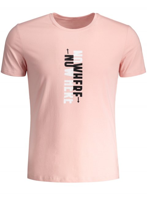 online Mens Crewneck Slogan Graphic Tee - WHITE 3XL Mobile