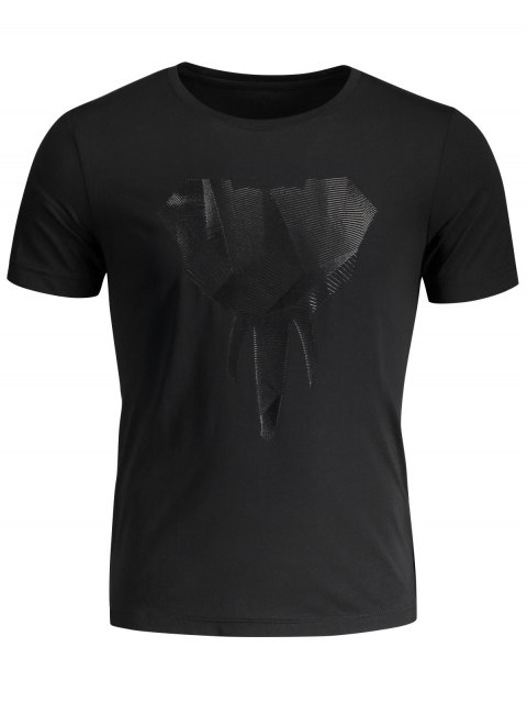new Crewneck Graphic Mens Jersey Tee - BLACK 3XL Mobile