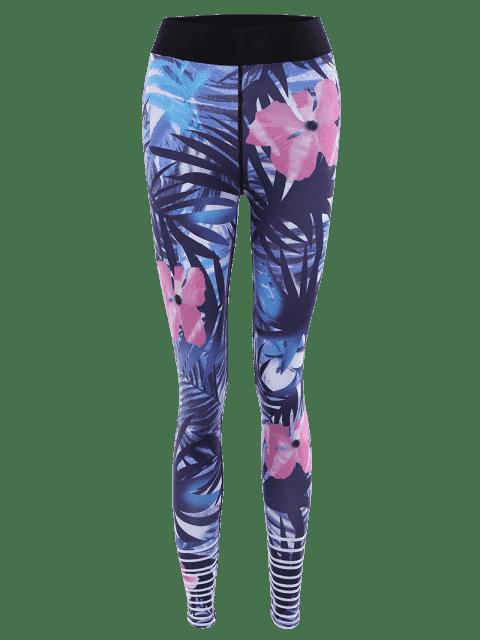 Leggings stretch stretch à motifs floraux - Floral XL Mobile