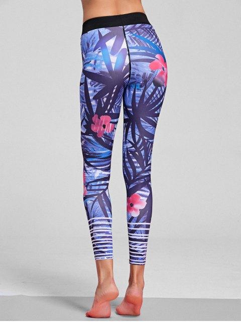 Leggings stretch stretch à motifs floraux - Floral S Mobile