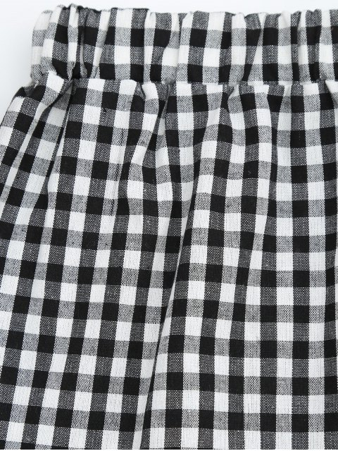 unique Halter Checked Top and Shorts Set - CHECKED S Mobile