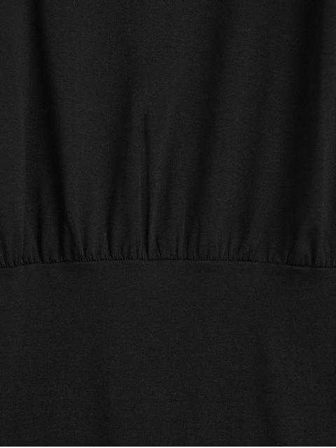 new Cold Shoulder Long Sleeve Mini Dress - BLACK S Mobile