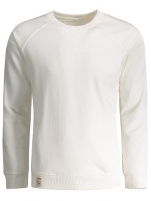 Mens Terry Pullover Sweatshirt - White L