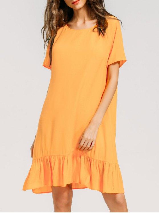 Robe décontractée - Orange Jaune XL