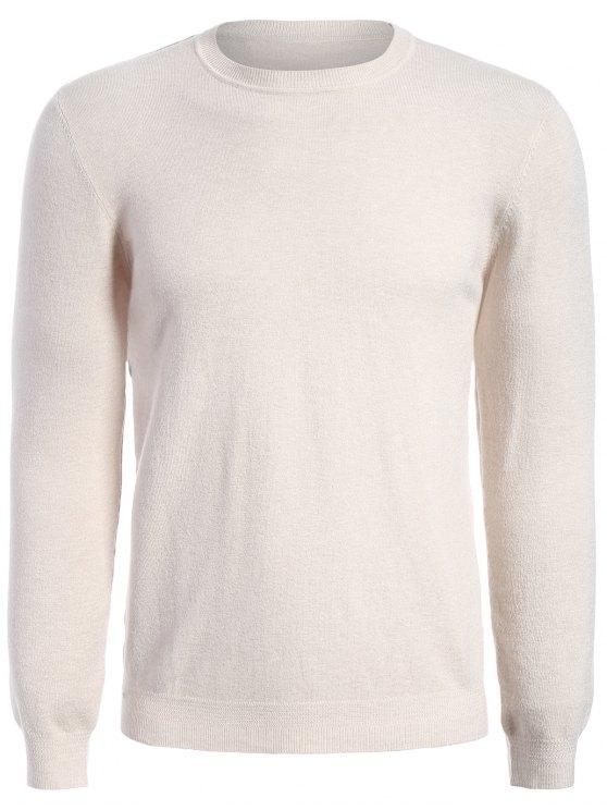 Pull à manches longues en tricot - Abricot XL