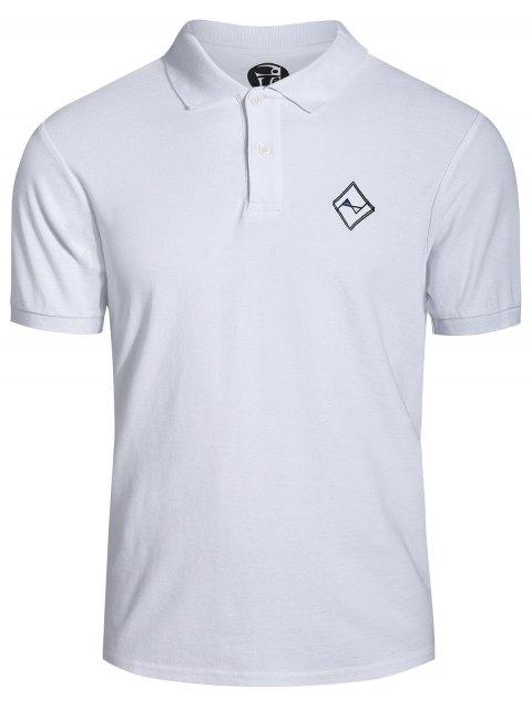 unique Men Embroidered Polo T Shirt - WHITE XL Mobile