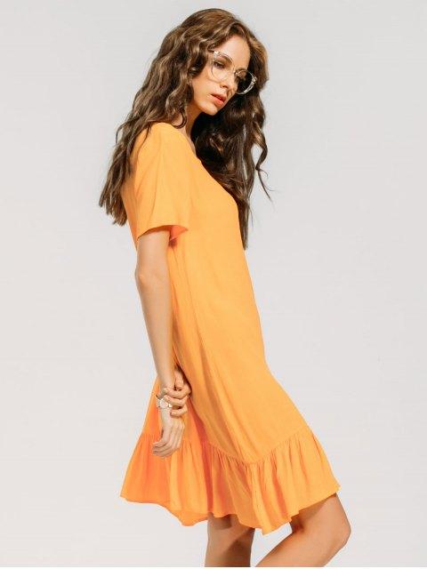 Robe décontractée - Orange Jaune XL Mobile