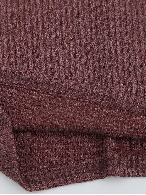 Criss Cross Cut Out Plunge Robe tricotée - Brique XL Mobile