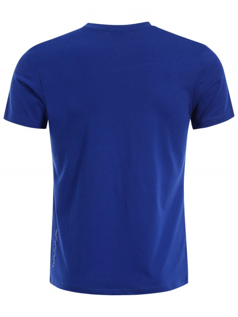 Crewneck Graphic Mens Jersey Tee - Bleu XL Mobile