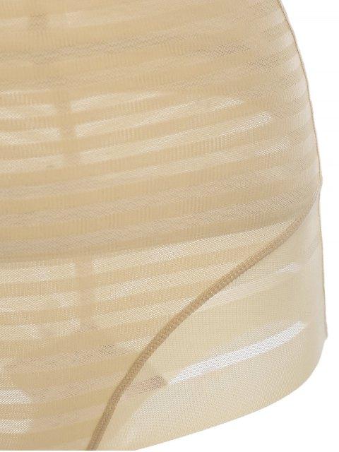 Underbust Sheer Stripe Body Corset Shaper - Teint S Mobile