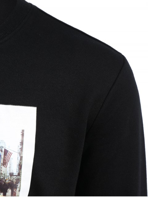 Pullover Graphic Print Men Sweatshirt - Noir XL Mobile
