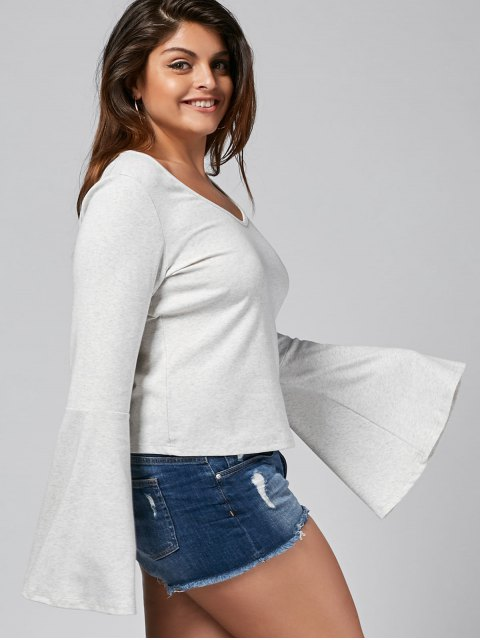 T-shirt à manches longues - RAL9002 Gris Blanc 4XL Mobile