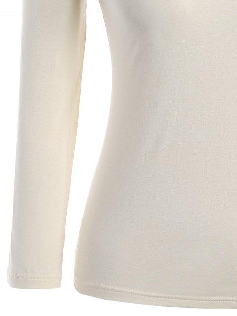 Tops en coton avec taille volante Top - Jaunâtre 4XL Mobile