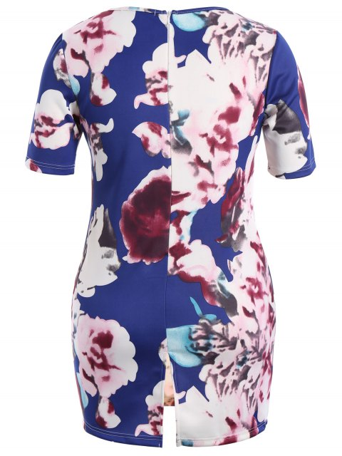 Robe Bodycon - Floral 4XL Mobile