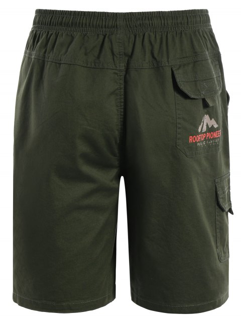 buy Side Pockets Cargo Bermuda Shorts - ARMY GREEN L Mobile
