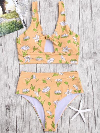 Floral De Alta Cintura Bikini Swimwear - Terroso Xl