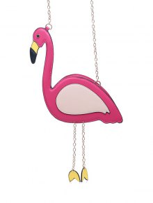 Buy Novelty Flamingo Shaped Crossbody Bag - ROSE RED