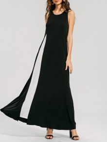 Swing Two Tone Maxi Dress - Black L